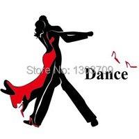Adam ve Lady Dans Duvar sticker 2015 Yeni Moda Latin dans Caz Dans Müziği Duvar Sanat Duvar Çıkartması Dekoratif Ev dekorasyon