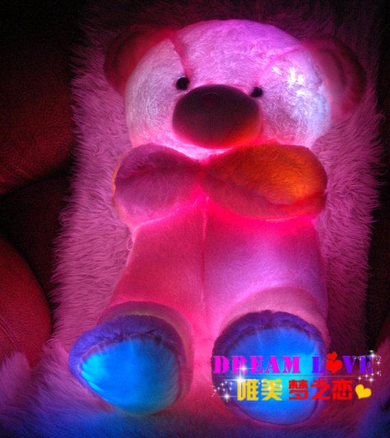Música colorido almohada luminosa / sensor de emisores juguetes / oso de la alta calidad