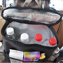 Car Milk Storage Bag Seat Back Organizer Insulated Seat Back Drinks Holder Keep Cool Warm Bottle Hanging Bag With Mesh Pockets(China)
