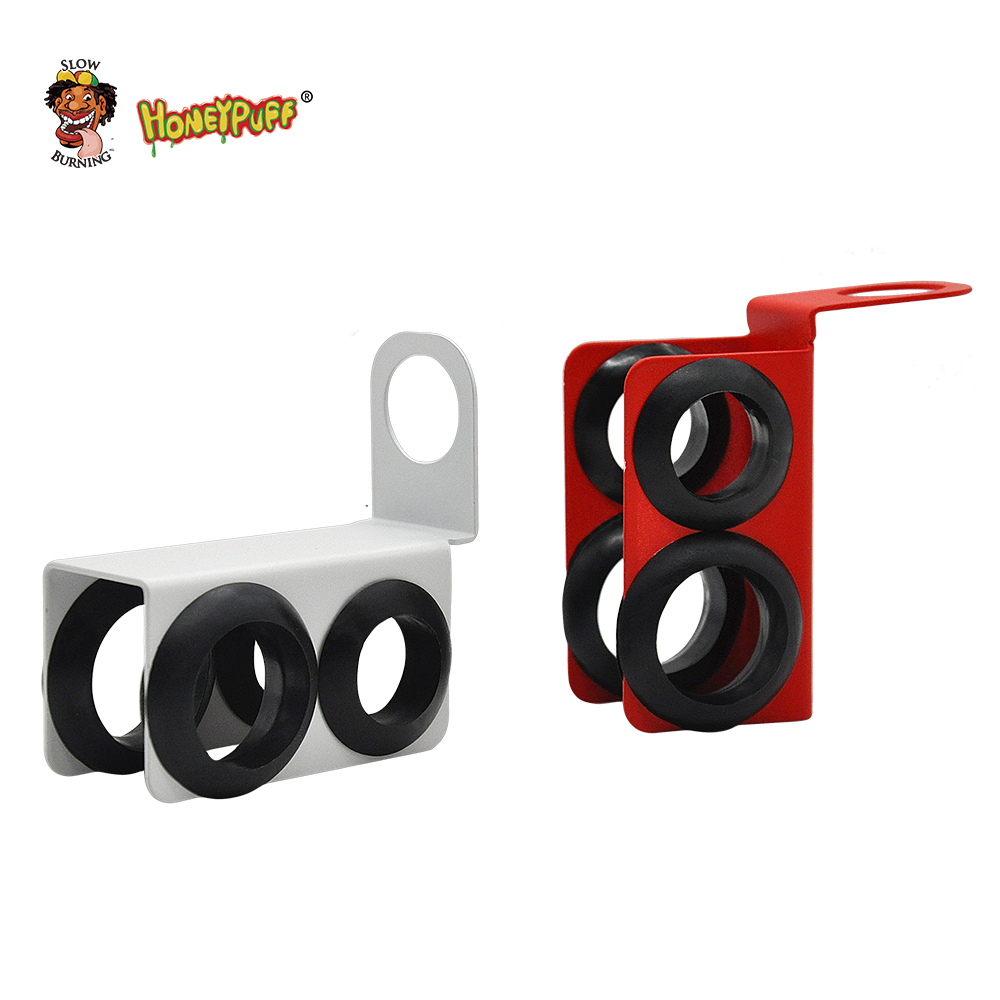 Metal&Silicone Hookah Shisha Hose Holder Shisha Hookah Accessories,Max  Dia 23mm Min Dia 19mm  Can Hold 2 Hose,Prevent Wear-in Shisha Pipes &