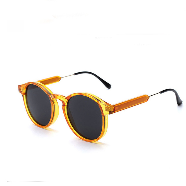 Casual Bright Yellow Frame Oval Women's Sunglasses