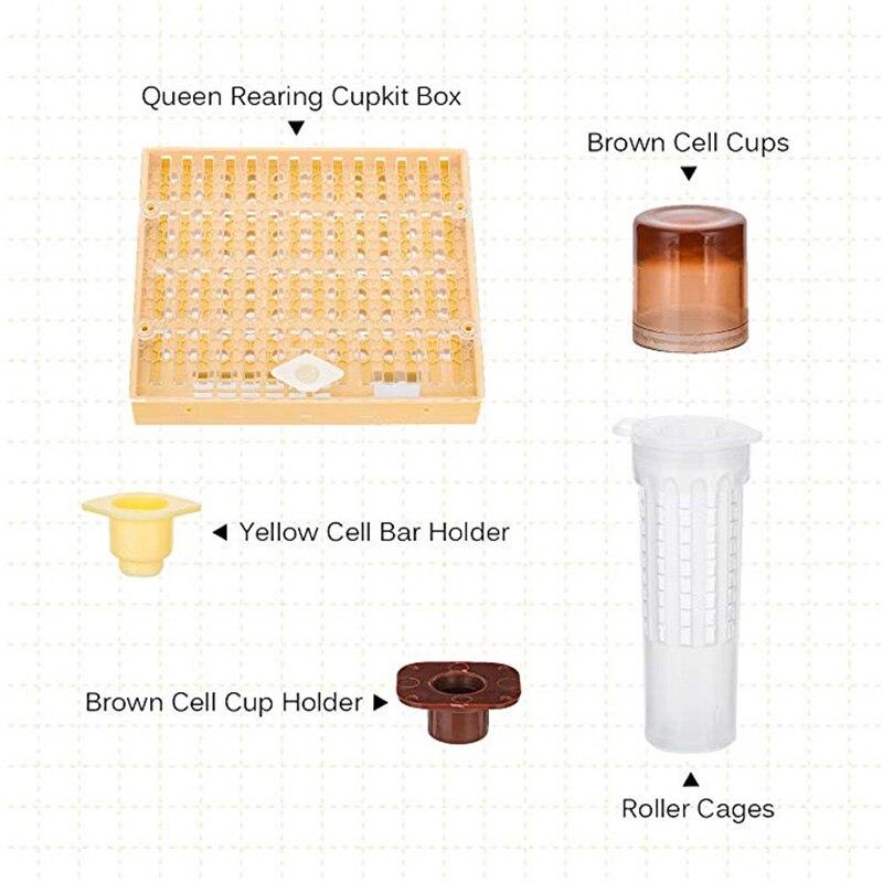 10x Beekeeping Queen Bee Cage Catcher Rearing Cup Beekeeper Multifunctional Tool