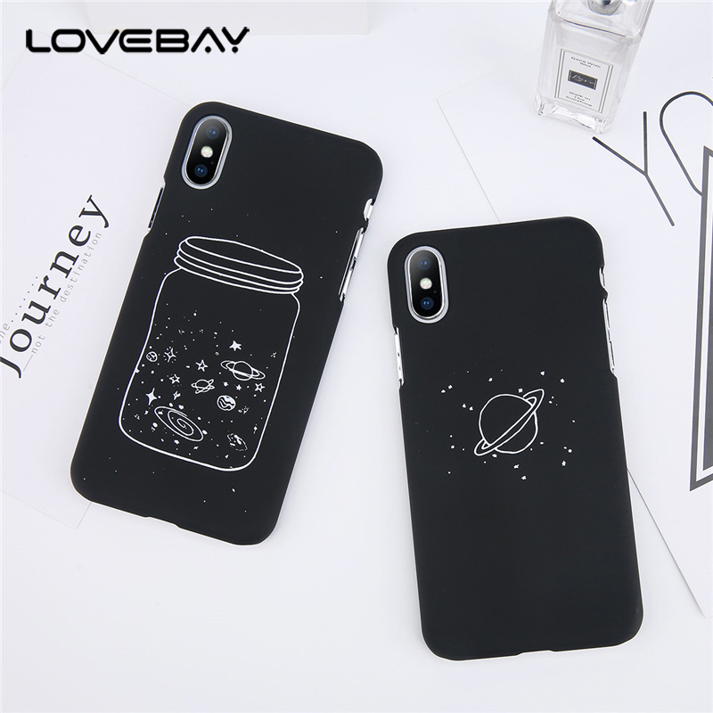 Phone Bags & Cases Kerzzil Wishing Bottle Planet Moon Phone Case For Iphone 7 6 6s 8 Plus Cartoon Starry Sky Hard Pc For Iphone X Cases Back Cover