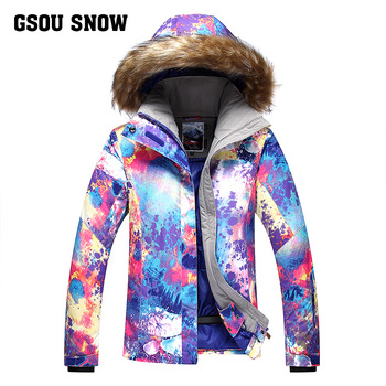 GSOUSNOW new ski suit women's jacket ski suit windproof warm waterproof emergency clothing mountaineering suit female