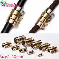1-10mm kc ouro/ouro rosa/bronze/ródio/pingente clipe fecho para fazer jóias conector diy couro corda cordão pulseira encontrar