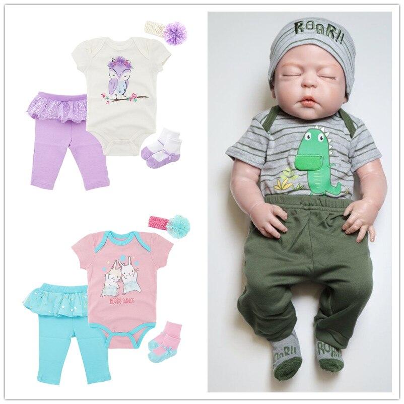 4 piezas recién nacido bebé niñas pantalones De manga corta mono lindo  pantalones traje De Bebé c5523308cb6