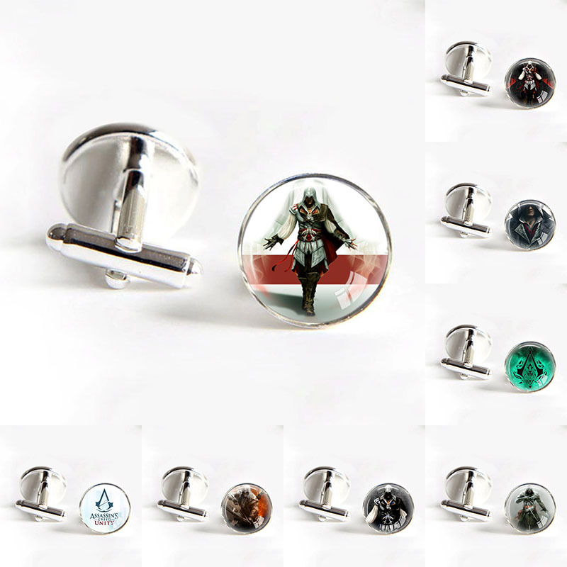 Assassins Creed Video Game Gaming Cuff Links Groom Cufflinks for Groom Wedding Cufflinks Mens Cufflinks groomsmen gifts