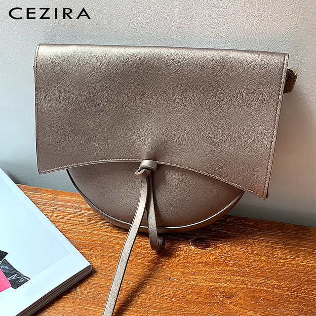 CEZIRA Brand Designer Women Shoulder Flap Bags High Quality Vegan Leather Handbag Ladies Solid Girl Fashion Cross body Messenger