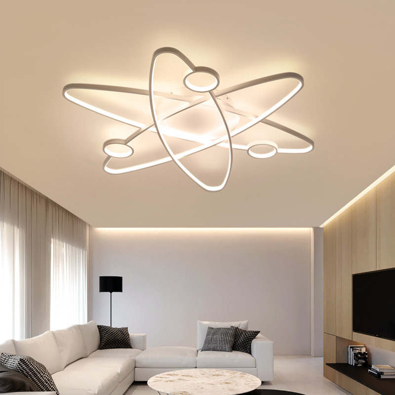 Image 5 - LICAN Modern Led Ceiling Lights For Living Room Study Room Bedroom Home Dec lamparas de techo Modern Led Dimming Ceiling Lamp-in Ceiling Lights from Lights & Lighting