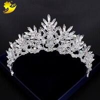 Xinyun Barok Gelin Tiara Vintage Saç Aksesuarları Sıcak Satış Coroa Noiva Kore Tarzı Kadın Taç Shining Kristaller Headdress