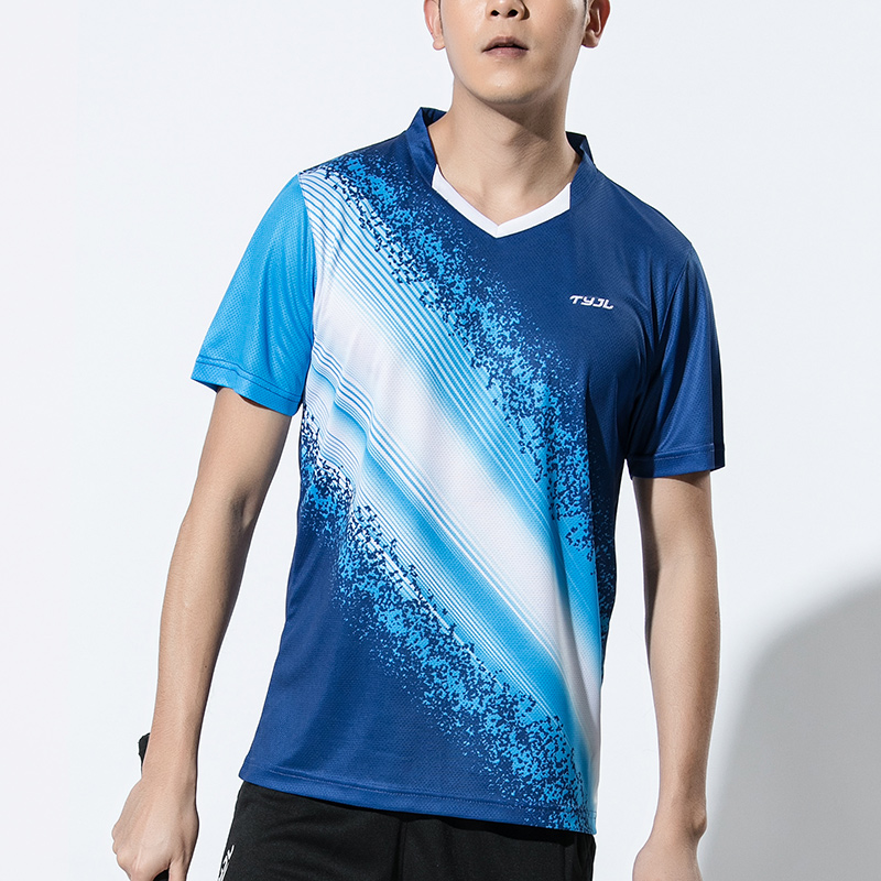 New Men Badminton shirts Men , Gym sport shirts , Tennis shirts , Badminton Tops , Fitness Tennis Tops , Sports Running shirt