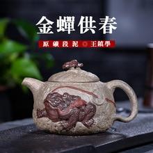 Yixing эмалированный керамический чайник секция, глина Ван Чжэнь исследование чистый ручной знаменитый чайник Путешествия Чайный набор поколение волос