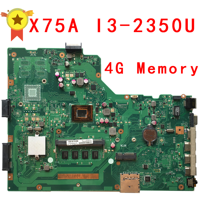 For ASUS X75A Laptop motherboard R704V with i3 cpu 60-ND0MB1700 60-ND0MB1G00 X75VD REV:3.1 GM 100% Tested lis avengers hulk figma 271 pvc action figure collectible model toy 19cm