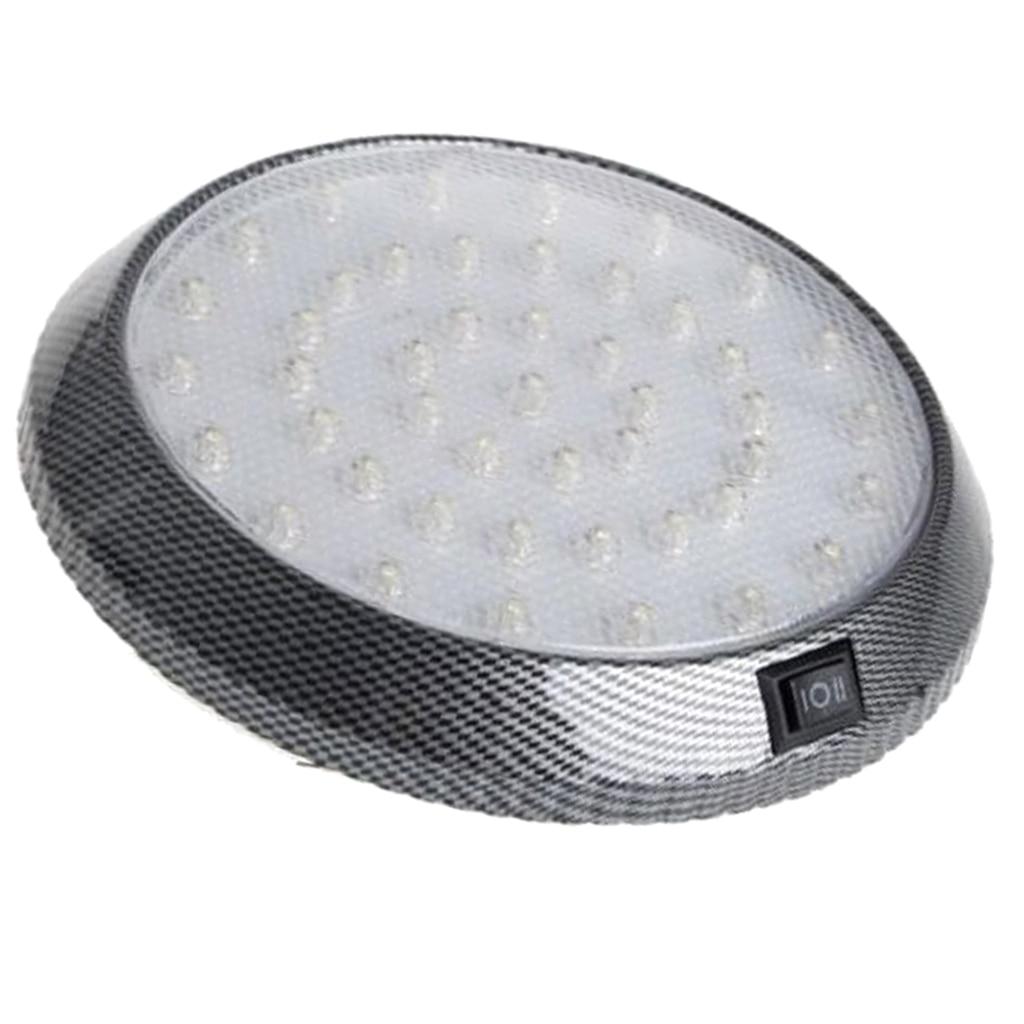 1 Pcs DC12V 46 LED Vehicle Car Interior Light Dome Roof Ceiling Reading Trunk Car Light Lamp Car Styling Night Light ABS Plastic