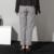 [Pronto su] 2017 Nuevas Llegadas de la buena textura de lana más el tamaño de cintura alta retro pantalones dos colores en mayor AS13191M