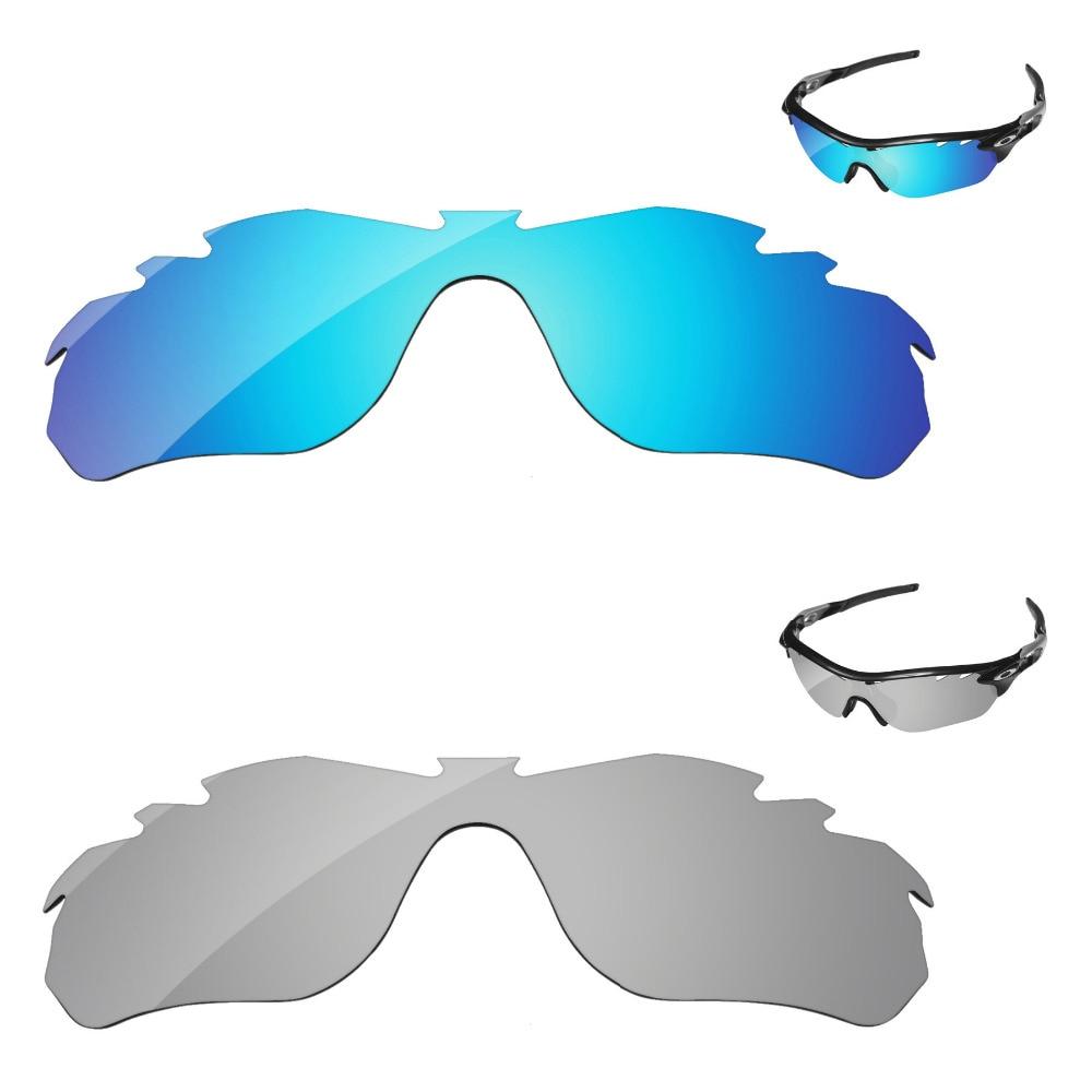 ec74ff2f5b Argent et Bleu 2 Paires Miroir Polarisé verres de remplacement Pour  RadarLock Bord Ventilé monture de lunettes de soleil 100% UVA et UVB  Protection