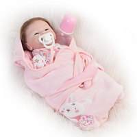New Design Mohair Babies Reborn Dolls Handmade Soft Silicone 16 Baby Dolls Smiling Alive Bebe Newborn