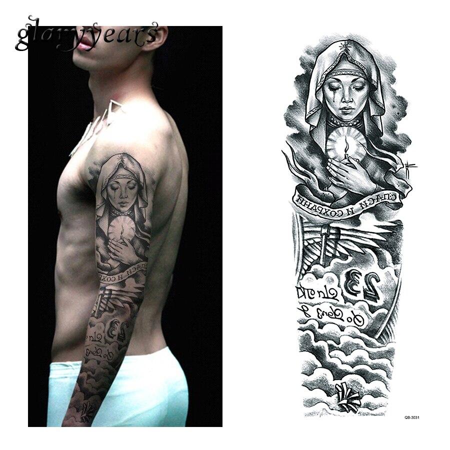 1 Piace Часовыя татуіроўкі налепкі Nun - Татуіроўкі і бодзі-арт