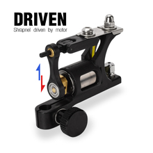 Black Machine Aluminum Alloy Rotary Motor Tattoo Machine Liner Shader for Tattoo Supply Sound light Long Work цены