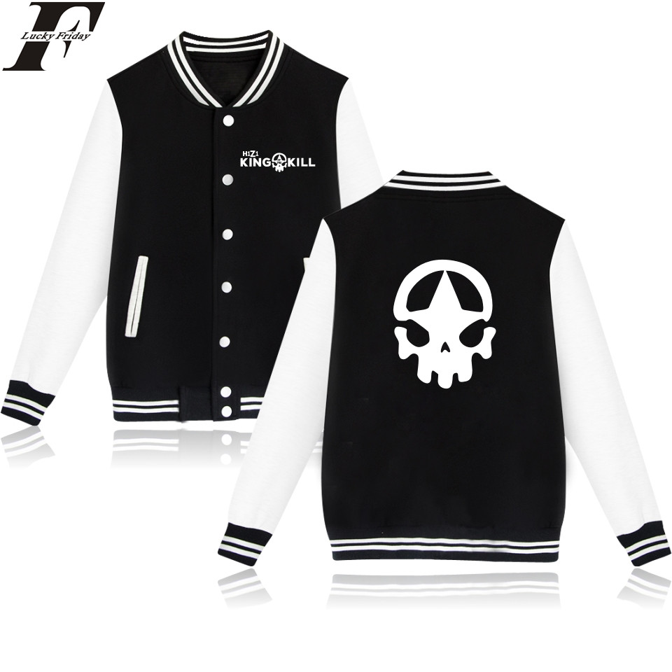 LUCKYFRIDAYF H1Z1 Baseball Jacket Women Spring Long Sleeve Fashion Women Jackets O-neck Black Game Printed Female Coat Plus Size