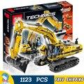 1123 шт. Новый Techinic Дистанционного Управления Моторизованный Экскаватор 20007 DIY Модель Строительство Комплект Блоки Подарки Игрушки Совместимость с Lego