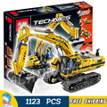1123pcs New Techinic Remote Controlled Motorized Excavator 20007 DIY Model Building Kit Blocks Gifts Toys Compatible with Lego