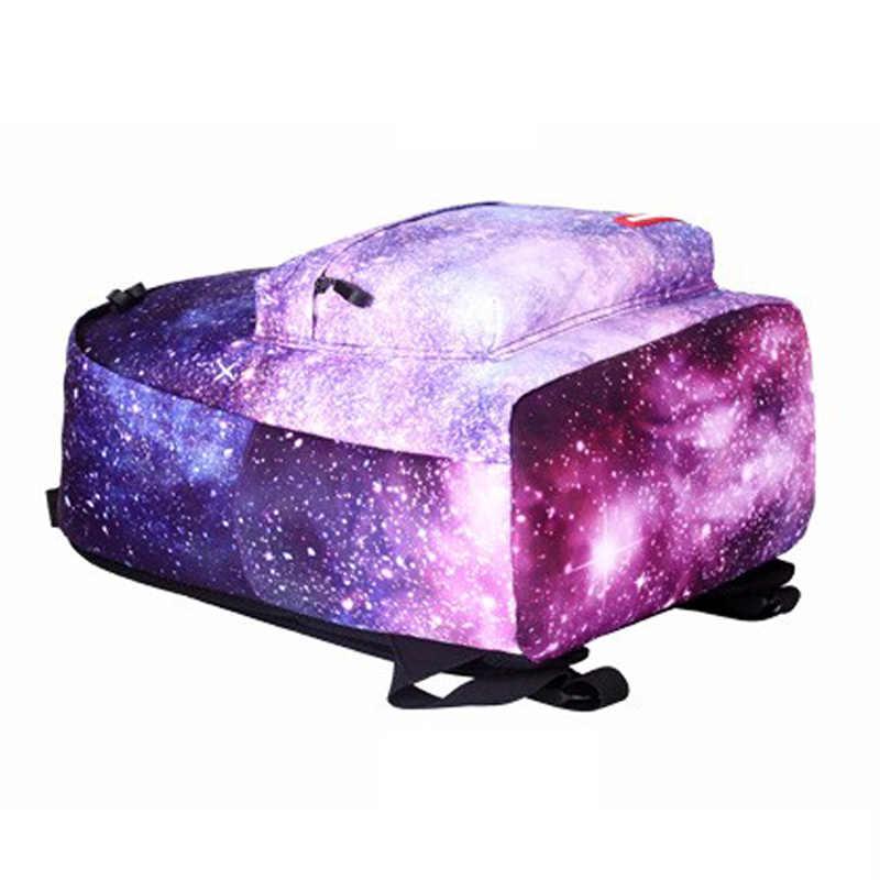 Mochila escolar feminina estampada, de estrelas, universo, para crianças, meninas, adolescentes, mochilas para laptop, mochila escolar