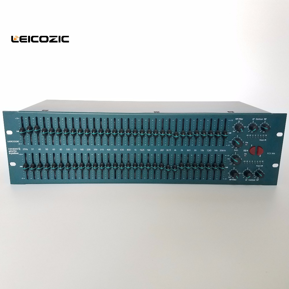 Leicozic FCS966 31 band stereo graphic equaliser EQ speaker management graphic equalizer audio graphic eq professional audioLeicozic FCS966 31 band stereo graphic equaliser EQ speaker management graphic equalizer audio graphic eq professional audio