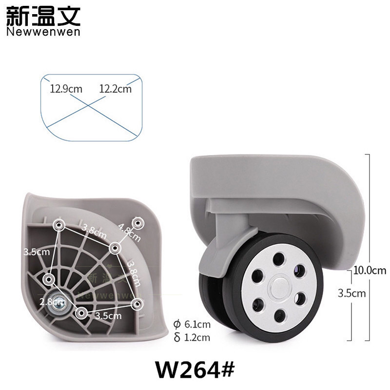 Replacement luggage wheels/Wheels for Suitcases Repair Hand Spinner Caster Wheels Parts Trolley wheel W264#Replacement luggage wheels/Wheels for Suitcases Repair Hand Spinner Caster Wheels Parts Trolley wheel W264#