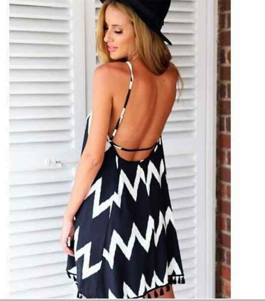 2019 estate Europeo e Americano nuovi delle signore onda modello nappa della cinghia vestito casuale di grande formato del vestito