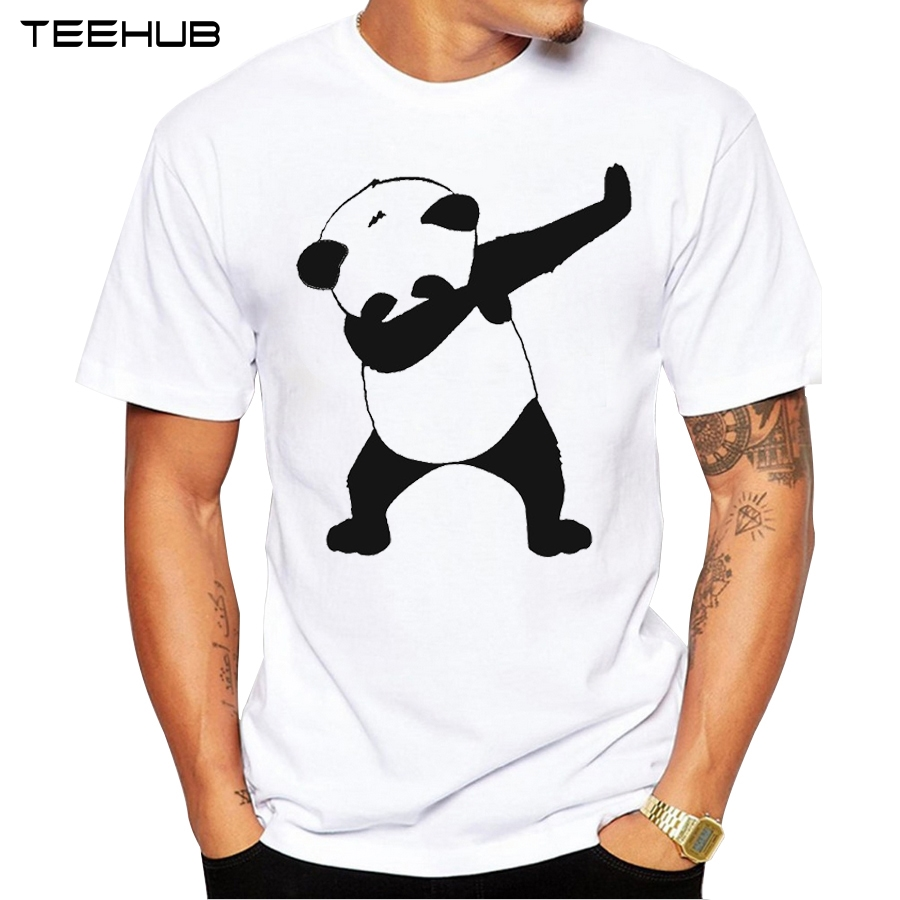2017 summer fashion dabbing panda bear t shirt newest men funny panda t shirts short sleeve tops. Black Bedroom Furniture Sets. Home Design Ideas