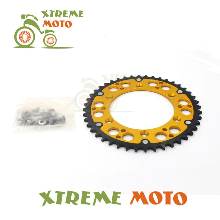 Gold 52T CNC Rear Chain Sprocket For Suzuki RM100 125 250 RMZ250 450  DR250 350 450 RMX250 DRZ400S TSR125 200 Motocross Enduro billet rear hub carriers for losi 5ive t