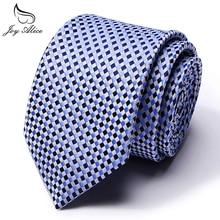 Free Shipping Geometric Brown Blue White 100% Silk Tie New Jacquard Woven Classic Mens Necktie Men Neck Wedding Gravatas