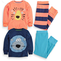 2017 Baby Boys Girls Winter Twin Long Sleeve Shirt+Pants Clothing Set Toddler Cartoon Tracksuit Sleeping Wear Clothes Suit 252