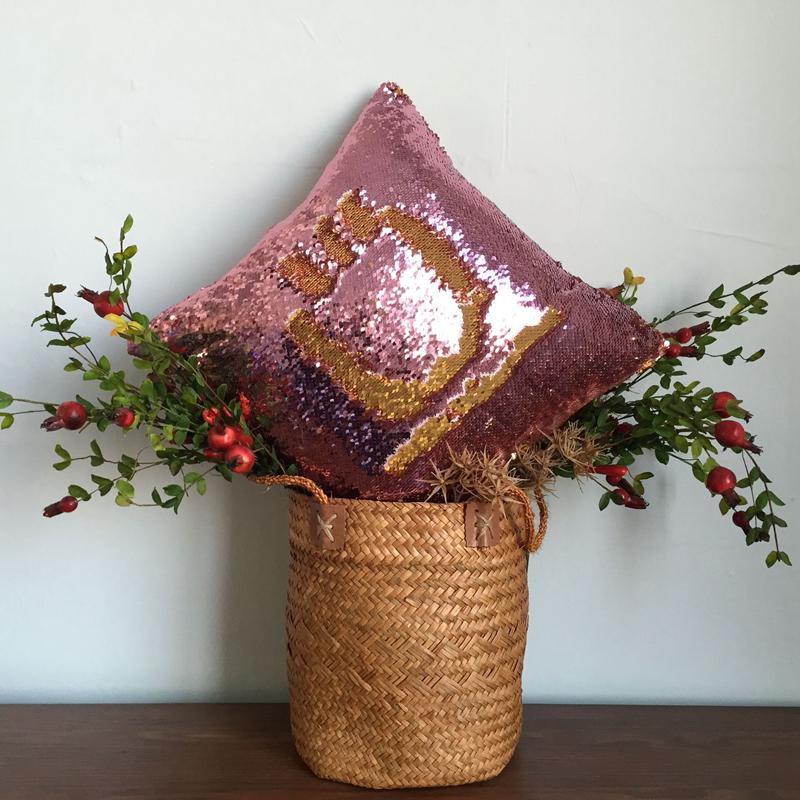 Pillowcase Decorative Mermaid Sequin Colorful Square Plain Knitted Hidden Zipper Pillow Home Car Sofa Cushion Cover 40*40cm 7