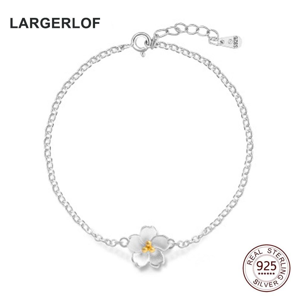 LARGERLOF Women 925 Sterling silver Bracelet Fine Jewelry Charm Bracelet Silver 925 BR50006