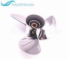 Hélice de acero inoxidable para Motor de barco, 13x17 K, para Yamaha 60HP 70HP 75HP 80HP 85HP 90HP 115HP 130HP, Motor fueraborda 13x17 K