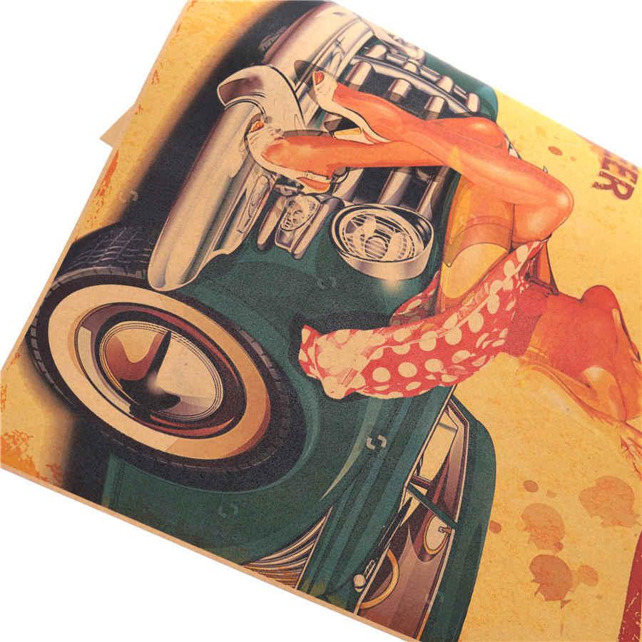 США Route 66 классические украшения дома винтажный плакат на стену диаграмма Ретро бумага матовая Kraft кафе бар Паб стикеры см 42x30 см MXC013