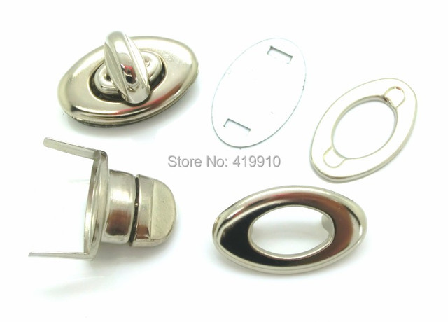 Free Shipping-10 Sets Silver Tone Handbag Bag Accessories Purse Twist Turn Lock 35x33mm 34x20mm 35x20mm 25x31mm J1809