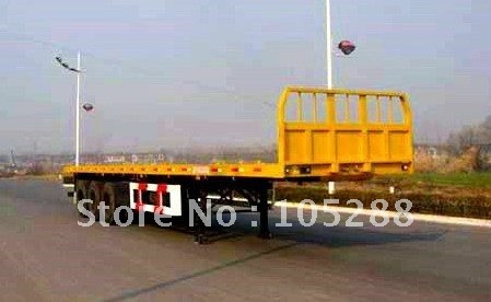 Hydraulic Lifting Suspension Flatbed Semi trailer/ Popular in Africa