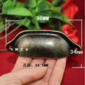 98MM long vintage antique medicine cabinet  drawer shells handle metal wardrobe cabinet handle