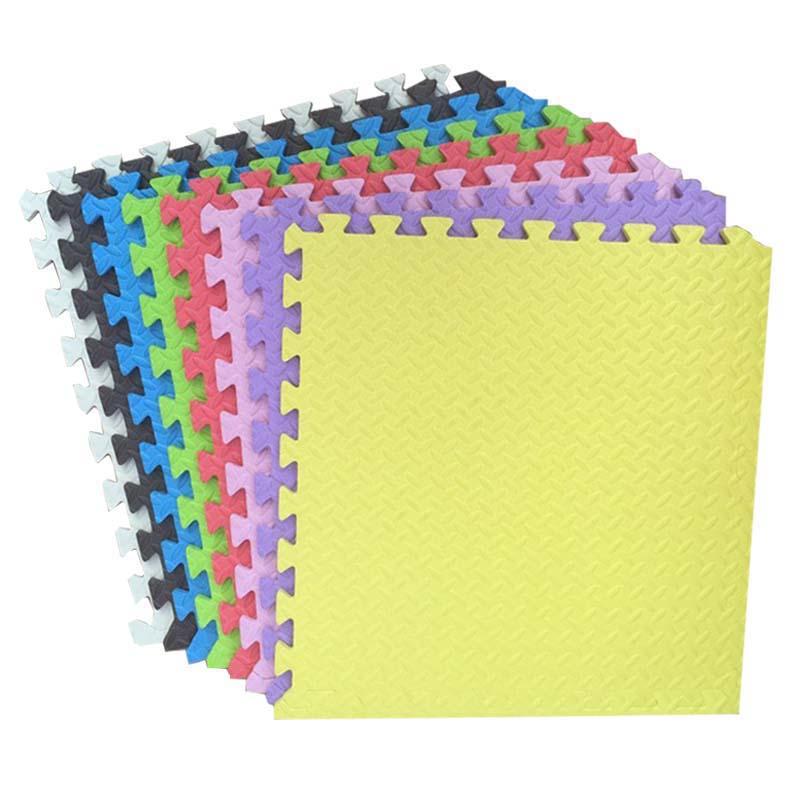 JCC feuille modèle bébé EVA mousse Puzzle tapis de jeu/enfants tapis tapis de verrouillage exercice plancher pour enfants carreaux 60*60*1.2 cm - 2
