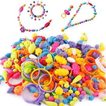 400 sztuk Pop koraliki zabawki kolorowa sztuka rzemiosło dla dziewczynek bransoletka typu snap koralik zabawki biżuteria akcesoria Puzzle edukacyjne zabawki dla dzieci tanie i dobre opinie Miuioee Dorośli 8 ~ 13 Lat 14 Lat i up 5 ~ 7 Lat beads beads toy Sport Zwierzęta i Natura Chiny certyfikat (3C) No eatting