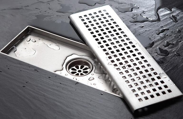 f5a821ec44 Free shipping 30 10cm square anti-odor floor drain 304 solid stainless  steel bathroom invisible shower floor drain DR065