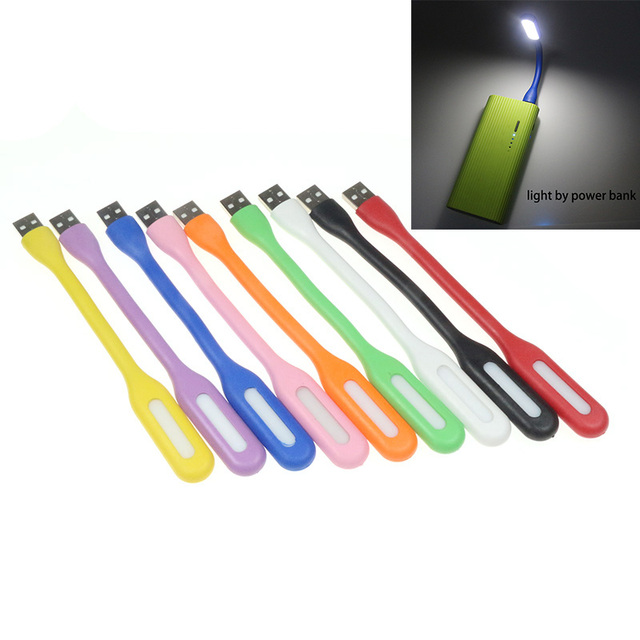 Cute 9 Color Small Reading Light Bright Silicon Led Laptop Lamp Waterproof USB Charging Computer Lantern Flexible USB Flashlight