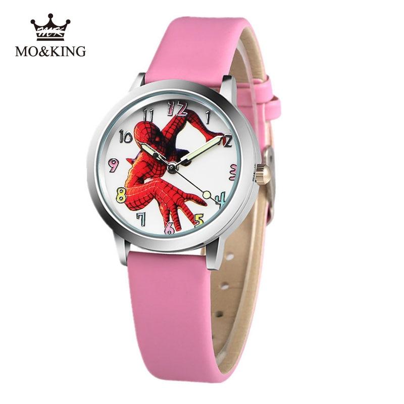 2019 New Spiderman Children Watch For Boys Girl Kid Baby Gift Fashion Kids Waterproof Watches Quartz Wristwatches Reloj Infantil