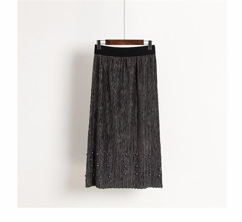 women velvet skirt 02