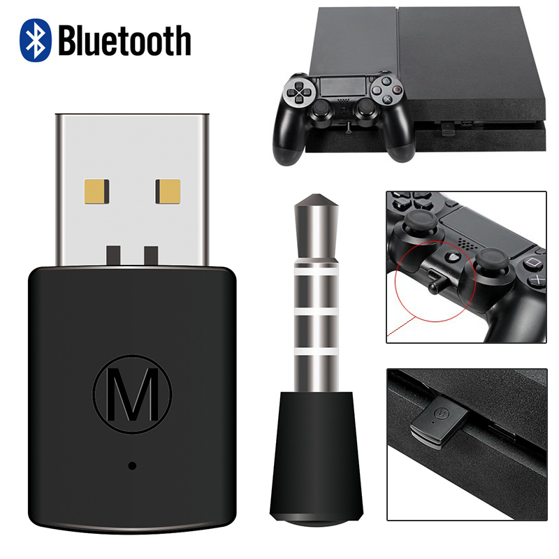 Bluetooth Wireless Headset Headphone Adapter With Mic Bluetooth 4.0 Adapter For PS4 USB Adapter