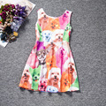 Easter Baby Girl Princess Dress 4-10 Years Kids Sleeveless Summer Sundresses for Girl Children Animal Dog Cat Fashion Clothing