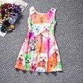 Pascua Baby Girl Princess Dress 4-10 Años Los Niños Sin Mangas Vestidos de Verano para La Muchacha Niños Animal Perro Gato de La Manera ropa